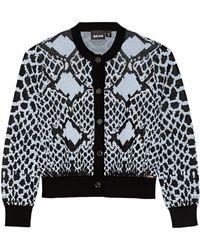 Just Cavalli Jacquard-Knit Cotton-Blend Cardigan - Lyst