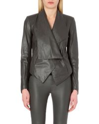 Helmut Lang Supple Leather Jacket - Lyst