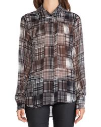 BCBGMAXAZRIA Bcbgeneration Shirred Yoke Shirt - Lyst