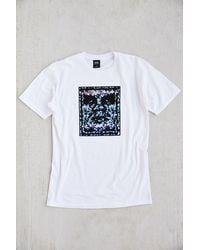 Obey White Noise Tee - Lyst