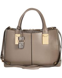 River Island Grey Snake Contrast Tote Bag - Lyst