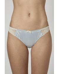 Topshop Satin And Lace Mini Knickers - Lyst