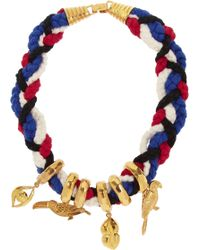 Virzi+de Luca - Native Of Rio Gold-Plated And Cotton Charm Necklace - Lyst
