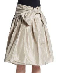 Pauw Metallic Silk Skirt - Lyst