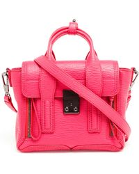 3.1 Phillip Lim Grained Leather Mini Pashli Satchel - Lyst