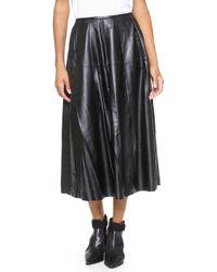 BLK DNM   Leather Skirt 26 Black   Lyst