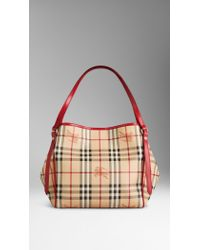 Burberry The Small Canter in Haymarket Check - Lyst