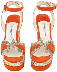 Terry De Havilland - Sima Stacked Wedge Sandal - Lyst