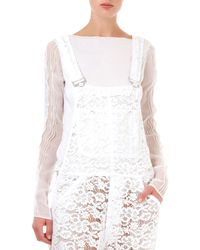 Nina Ricci Long-sleeve Sheer Top - Lyst