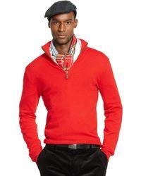 Ralph Lauren Cashmere Half-Zip Sweater - Lyst