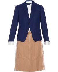 Undercover - Wool-blazer Insert Coat - Lyst