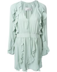 Valentino Ruffled Mini Dress - Lyst