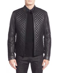 Lamarque - Quilted Leather Moto Jacket - Lyst
