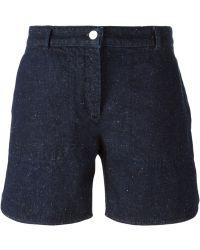 Maison Kitsuné Denim Shorts - Lyst