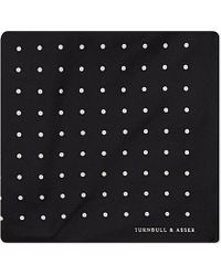 Turnbull & Asser Polka-Dot Pocket Square - For Men black - Lyst