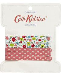 Cath Kidston - Pink Printed Hair Pins - Lyst
