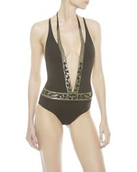 Noё Gold Clematis Swimsuit - Lyst