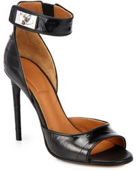 Givenchy Eel Skin Shark-lock Sandals - Lyst