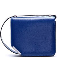 Bally Small Cobalt Leather Shoulder Bag - Lyst