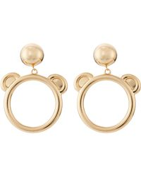 Moschino Clip-On Earrings - Lyst