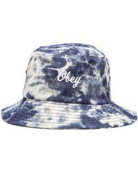 Obey Acid Bucket Hat blue - Lyst