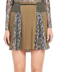 Mary Katrantzou Vonga Pleated Silk Skirt - Lyst