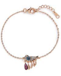Galleria Armadoro - 'evil Eye' Drop Bracelet - Rg/ruby - Lyst