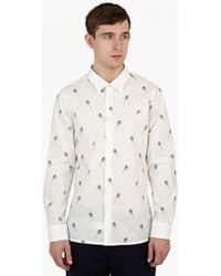 Raf Simons | Shirt With All Over Head Print | Lyst