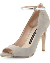 French connection Neola Suede Leather Pump - Lyst