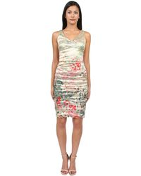 Nicole Miller Faint Flora Dress - Lyst