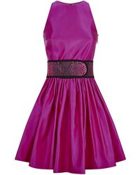 Christopher Kane Satin Princess Dress - Lyst