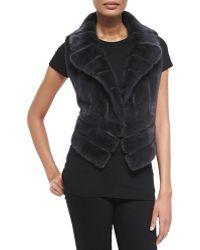 J. Mendel Notch-collar Mink Fur Vest - Lyst