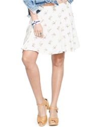 Denim & Supply Ralph Lauren Floral-Print A-Line Mini Skirt - Lyst
