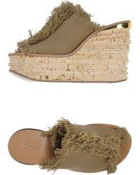 Chloé Green Sandals - Lyst