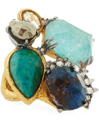 Alexis Bittar Gilded Muse Dore Multi-stone Spike Ring - Lyst