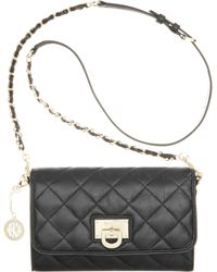 DKNY Gansevoort Quilted Small Flap Crossbody - Lyst