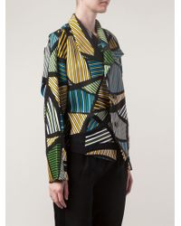 Issey Miyake Mixed Stripe Print Jacket - Lyst