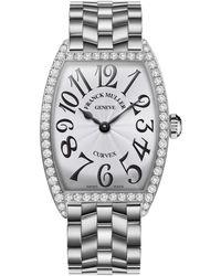 Franck Muller - Ladies Curvex Stainless Steel Diamond Watch - Lyst