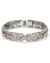 Ben-amun Bridal Classic Crystal Deco Bracelet - Lyst
