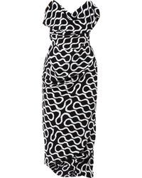 Vivienne Westwood Gold Label - Exclusive Ball Tie Squiggle-print Gown - Lyst