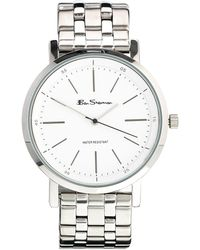 Ben Sherman White Dial Stainless Steel Strap Watch Bs088 - Metallic