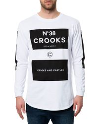 Crooks And Castles The No° 38 Ls Scallop Top - Lyst