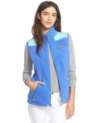 Vineyard Vines - 'shep' Fleece Vest - Lyst