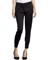 Versace Straight-Leg Jogger Pants black - Lyst