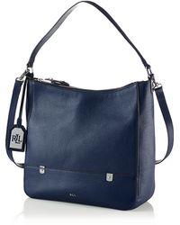 Lauren by Ralph Lauren Morrison Leather Hobo Bag - Lyst