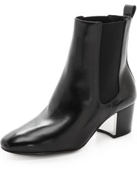 Michael Kors Collection Yvette Booties Black - Lyst