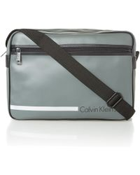 Calvin Klein Gray Messenger Bag - Lyst