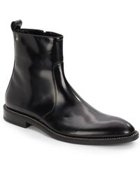 John Galliano Chain Detailed Leather Ankle Boots - Lyst