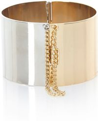 River Island Gold and Silver Tone Twotone Bangle - Lyst
