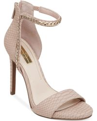 Jessica Simpson Redith Asymmetrical Chain Platform Sandals - Lyst